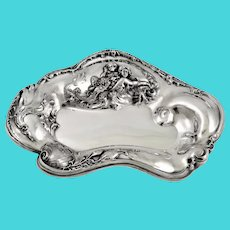 Mermaid Art Nouveau candy dish by Simpson, Hall & Miller c 1895