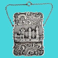 Nathaniel Mills Card case, Birmingham 1845 Sterling silver.