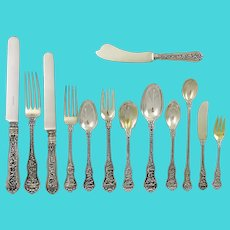 Olympian By Tiffany, 185 piece service for 12 +in sterling silver circa 1878