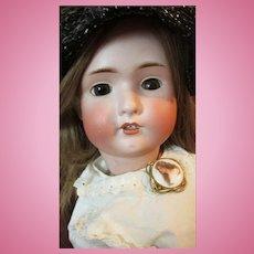 """Bruno Schmidt BSW in Heart 1900 Antique Bisque Head by Bahr Proschild Doll 30"""""""
