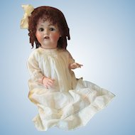 Life Size Antique German Kestner 257 Baby Character Bisque Head Brown Eyes