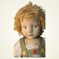 Rare Early 1920s Large Felt 500 Series Lenci Character Girl