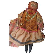 Rare Early 1800s Bed Post Wooden Native American Indian Doll * Museum Worthy