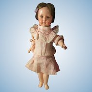 Rare A.M. 449 Antique Painted Bisque Head Closed Mouth Pouty Flapper Type Character Doll