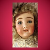 Rare Early 1880s Bisque Head Doll with Original Straight Wrist Body known as Open Mouth Kestner AT marked XII