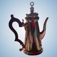 Charming Doll Sized Silver-Plated Coffee Pot