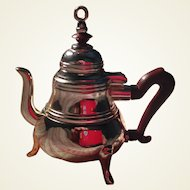 Charming Doll Sized Silver Plated Miniature Tea Pot