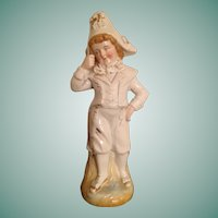 Large Antique China Piano Baby Boy Doll Related