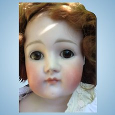 Large Antique Closed Mouth Pouty Kestner Bisque Head Doll TLC