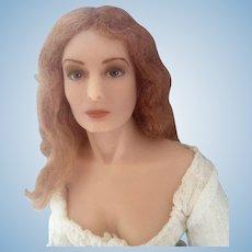 Poured Wax Doll Artist 1980 Portrait Sophia Loren Doll