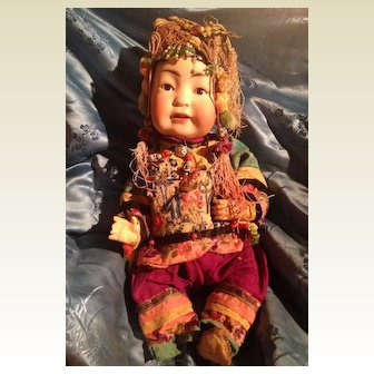 Antique German Bisque Kestner Character 243 Chinese Baby Doll Entirely Original TLC