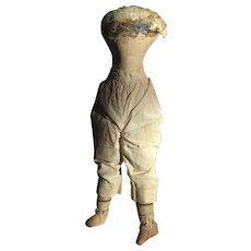 Early Cloth Doll Body & Bloomers Suitable for China, Parian, Wax or Papier Mache Doll Head