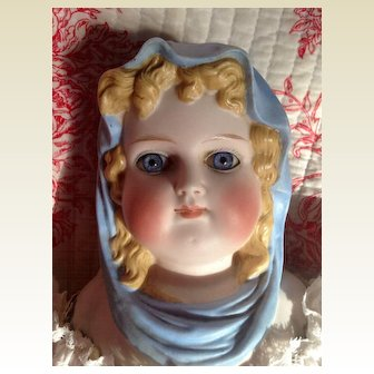 Rare Antique ABG Blue Scarf Queen Louise of Prussia Doll