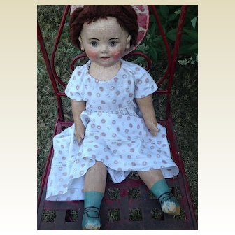 Rare Antique Large Prototype Ella Smith Alabama Baby Doll