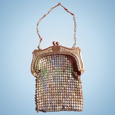 Antique Miniature Whiting and Davis Mesh Purse for French Fashion or Other Antique Doll