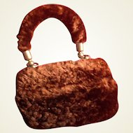 Antique Rare Miniature Fur Purse for French Fashion Doll or Bebe