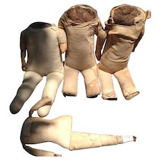 4 Vintage Cloth Doll Body Parts