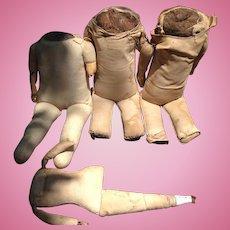 4 Vintage Cloth Doll Body Parts