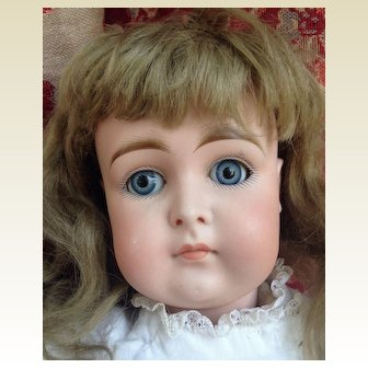 Large Antique Kestner Swivel Head Bisque  Closed Mouth Doll TLC