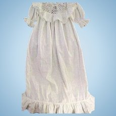 Antique Victorian Baby or Doll Lace Trimmed Gown