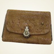 Precious Antique French Fashion Doll Purse in Velvet