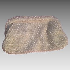 Vintage Mid-Century 1950s Lucite Beaded Clutch Purse