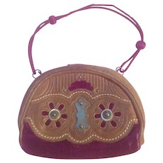 Exquisite Antique French Fashion Doll Purse