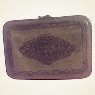 Antique Embossed Leather Doll Purse