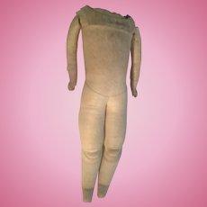 Early Antique Kestner Kid Leather Body for Antique Shoulder Head