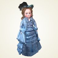 Glorious Antique French Trade Closed Mouth Swivel Head Sonnenberg Fashion Doll