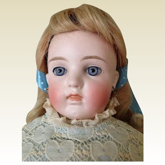Angelic Antique Closed Mouth Belton Bisque on Original Kid Fashion Body Doll
