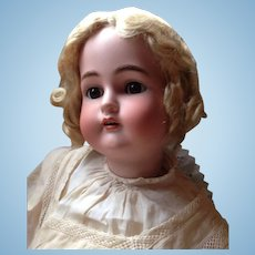 Life Size Antique German Kammer Reinhardt Simon Halbig Bisque Head Brown Eyes