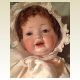 Antique Hertel &Schwab 152 Bisque Head  Character Baby