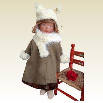 Antique American Kamkins Cloth Doll