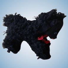 Vintage French Baa Baa Black Sheep  Fur Lamb