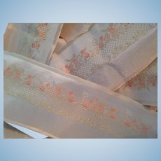 Glorious Vintage French Ribbon or Sash Yardage