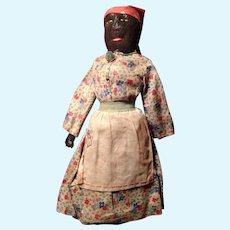 Primitive Antique Folk Art Americana Palmetto Black Doll