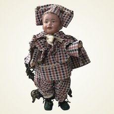 Rare French SFBJ Bisque Head Character Boy Doll