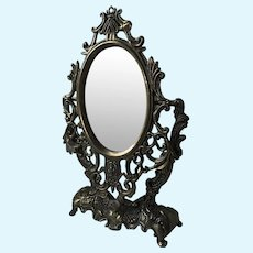 Miniature Tilt Mirror for Antique French Fashion Doll or other Lady Doll