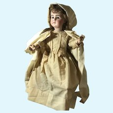 Early Simon Halbig Closed Mouth 949 with Original Body and Antique Woolen Clothing