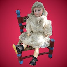 Gorgeous Early Antique German Kuhnlenz Bisque Head Doll