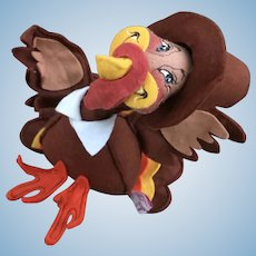Vintage Annalee PAIR Pilgrim Thanksgiving Turkeys 1994 Made USA