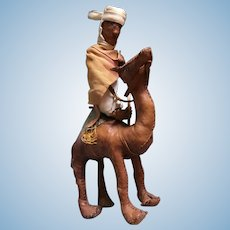 Vintage Handsewn Leather Lawrence of Arabia on Camel