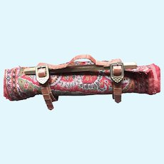 French Fashion Doll Wood Carpet Roll Carrier