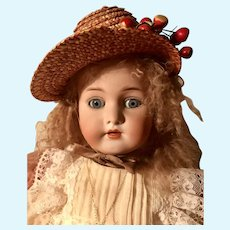 Antique Rare Mark Simon Halbig French Trade Bisque Head Doll on Antique French Jumeau Body