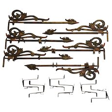 Vintage Swing Curtain Rods - Six Matching