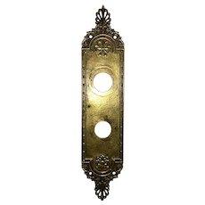 Vintage Solid Cast Brass Door back Plate