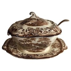 Tonquin Royal Staffordshire Clarice Cliff Soup Tureen Set