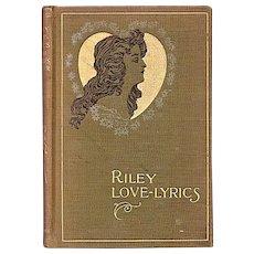 Lovely Art Nouveau Book - Riley Love-lyrics 1899