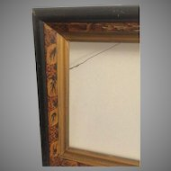 Antique Picture Frame Victorian 19th c. Aesthetic Movement Lilly Gesso Gold Painting